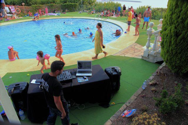 Disjey en piscina