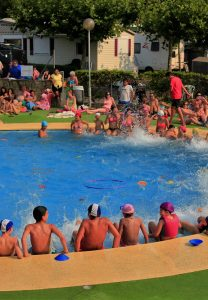 Poolgames and waterparty